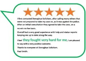 Donoghue Solicitors explain how to fund your police misconduct claims using no win no fee and other arrangements.