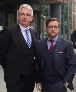 Solicitor Kevin Donoghue (right) pictured with his client James Parry.