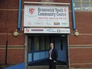 Photo of Kevin Donoghue, solicitor, at Brunswick Youth and Community Centre.