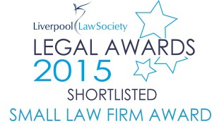 Image showing that Donoghue Solicitors has been short-listed for the Small Firm Award in the 2015 Liverpool Law Society Legal Awards.