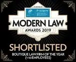 Donoghue Solicitors has been shortlisted for the 2019 Modern Law Awards