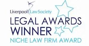 Niche Law Firm Award winners logo.