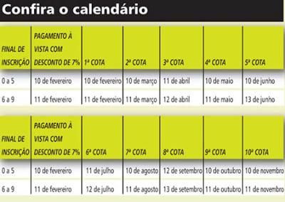 Calendario IPTU Rio de Janeiro