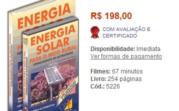 curso 20energia 20solar Curso Energia Solar para o Meio Rural, Programa e Preço - DVD