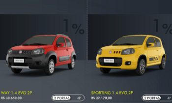 uno Fiat Uno Tudo 2 Portas, Novo Modelo, Cores e Preço, Onde Comprar