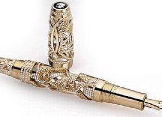 canetas mont blanc ouro puro Mont Blanc, Esmeralda, Canetas de Luxo, Comprar