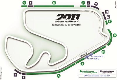 Mapa do GP Brasil