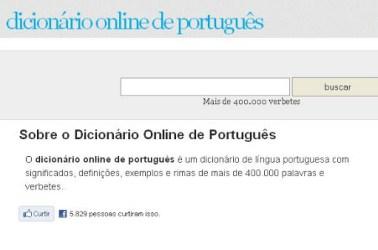 Como Usar o Dicionário Online