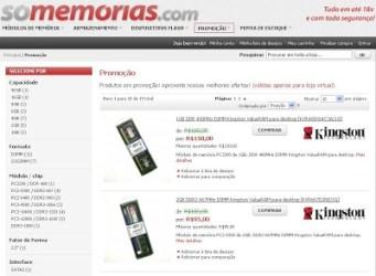 Site Só Memórias.com, Comprar Memórias Para Computador, Preços