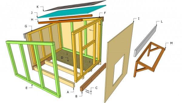 modelo para casinha de cachorro quadrada
