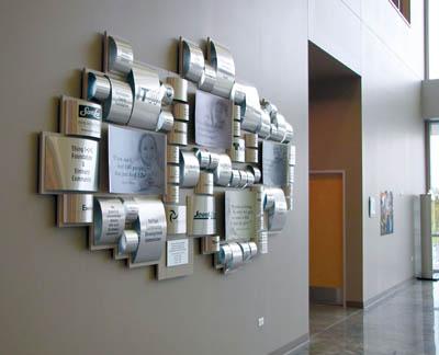 Donor Wall greets visitors at Food Banks new facility