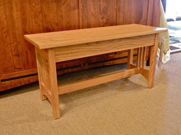 Small Mission Bench Wood Species Shown: Oak Fully Customizable. Please contact us for pricing details.