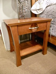 Providence 1-Drawer and Shelf Nightstand Wood Species Shown: Brown Maple Fully Customizable. Please contact us for pricing details.