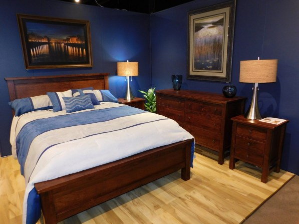 Cabin Creek Bedroom with Distressing Wood Species Shown: Rustic Cherry Fully Customizable.