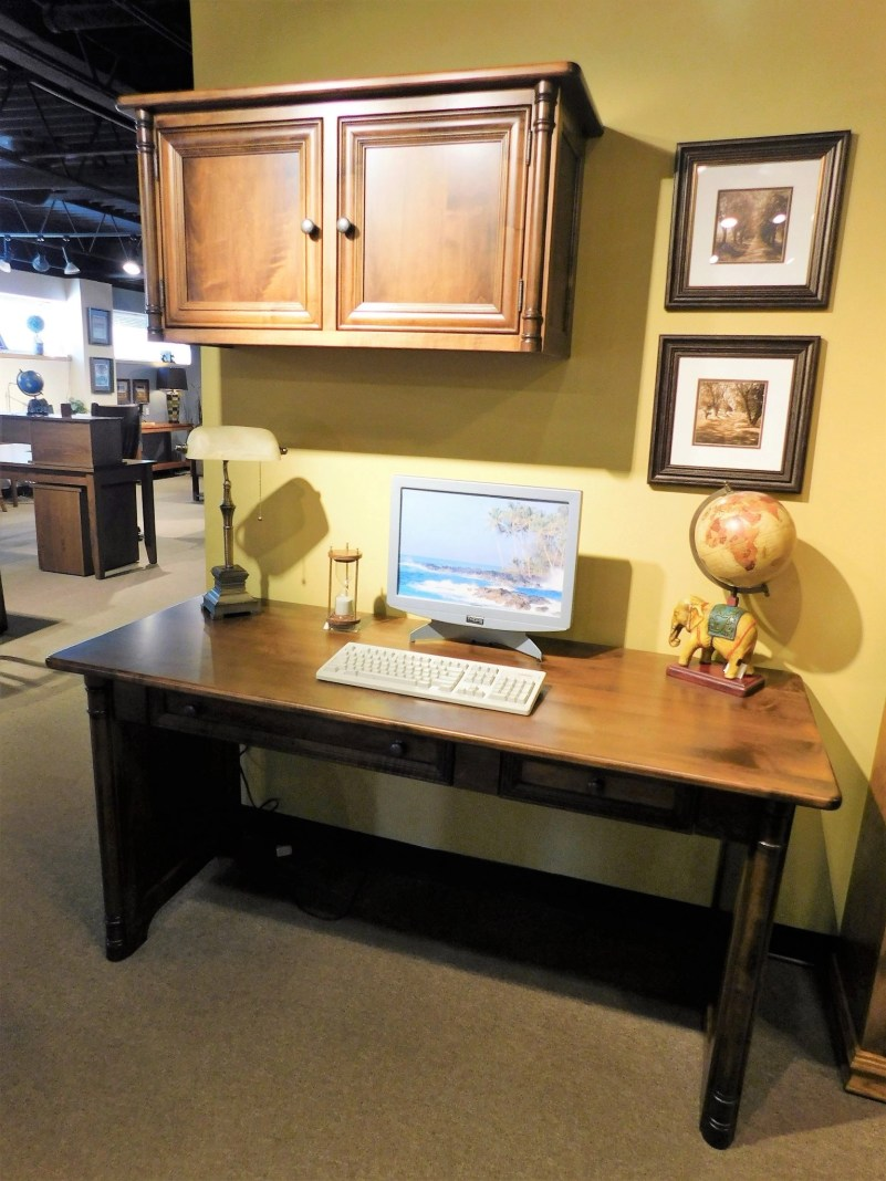Belmont Open Office Wood Species Shown: Brown Maple Fully Customizable.