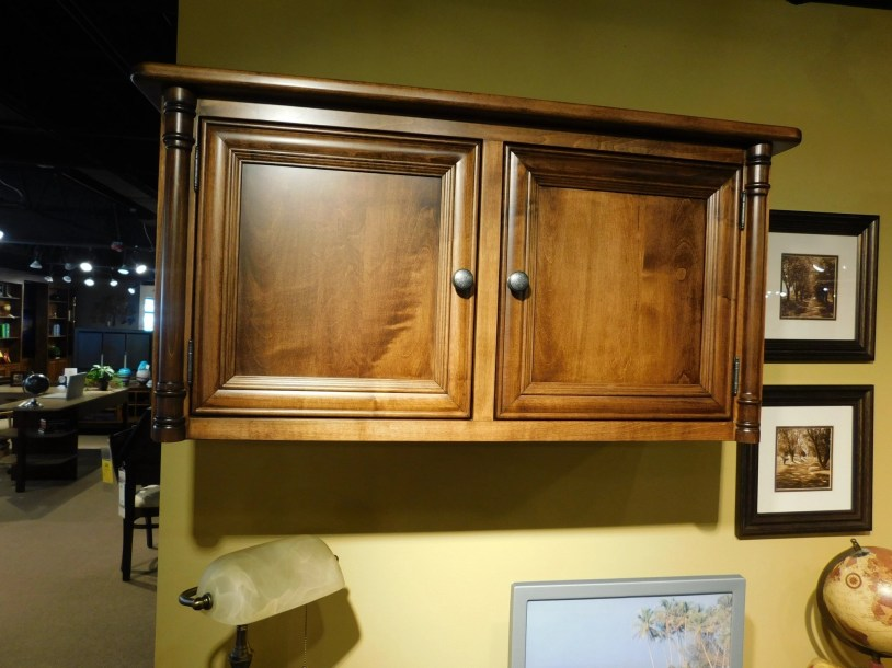 """Belmont Wall Cabinet Wood Species Shown: Brown Maple Dimensions: 40""""W x 15""""D x 20""""H Fully Customizable. Please contact us for pricing details."""