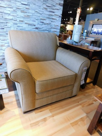 Bailey Chair Shown in Gr. 15 Milan Latte Partially Customizable. Please contact us for pricing details.