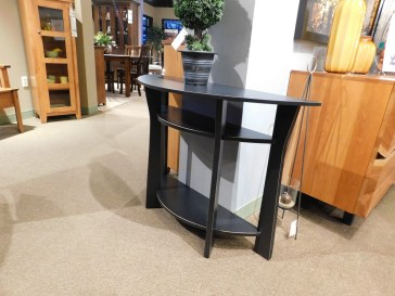 """Open Westfield Foyer Table Wood Species Shown: Brown Maple Dimensions: 40.5""""W x 14""""D x 30""""H Fully Customizable. Please contact us for pricing details."""