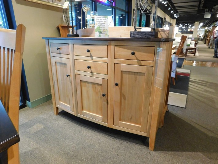 """Richland Sideboard with Backsplash Wood Species Shown: Brown Maple Dimensions: 54""""W x 20""""D x 40""""H Fully Customizable. Please contact us for pricing details."""