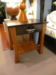 Providence 1-Drawer Nightstand Wood Species Shown: Brown Maple Fully Customizable. Please contact us for pricing details.