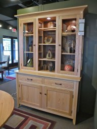 Carlisle Dining Hutch with Can Lights Wood Species Shown: Oak Fully Customizable. Please contact us for pricing details.