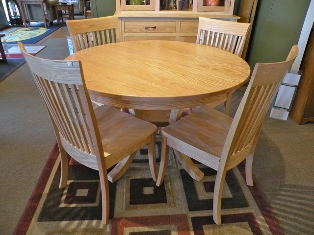 """Carlisle 48"""" Round Dining Set Wood Species Shown: Oak Fully Customizable. Please contact us for pricing details."""