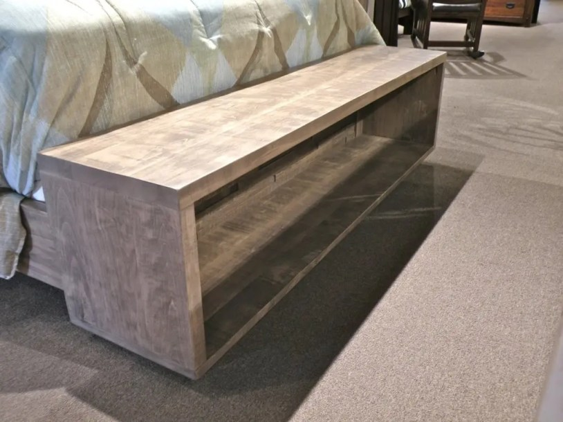 Ledge Rock End-of-Bed Open Seat & Storage Fully Customizable. Please contact us for pricing details.