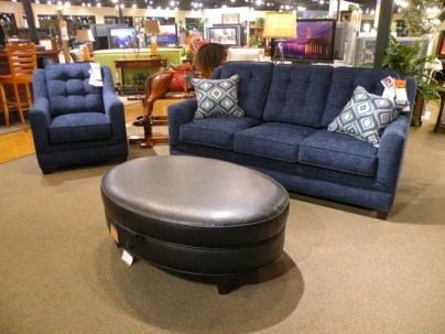 Tatum Living Room Pieces - Marshfield Shown: -Chair -Sofa -Oval Storage Ottoman Partially Customizable. Please contact us for pricing details.