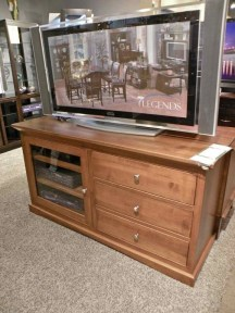 """57"""" Shaker #3 TV Stand #SBC-PL-3-7 Wood Species Shown: Brown Maple Fully Customizable. Please contact us for pricing details."""