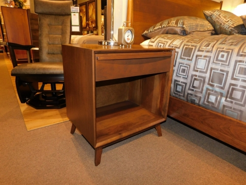 Cambridge Mid-Century Modern 1-Drawer Open Nightstand