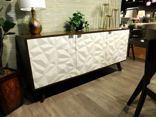 Avalon Credenza with Textured Door Fronts