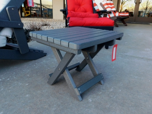 Dark Gray Folding Table