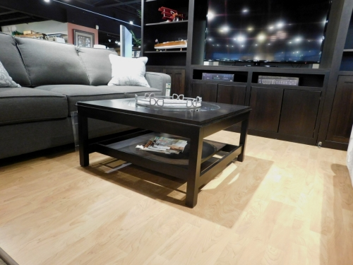 Metropolitan Square Coffee Table with Glass Inset Top