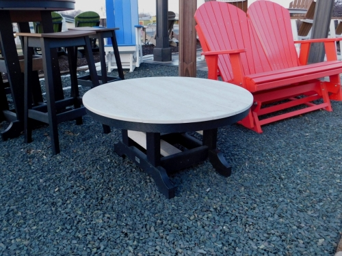Round Coffee Table in 2-Tone