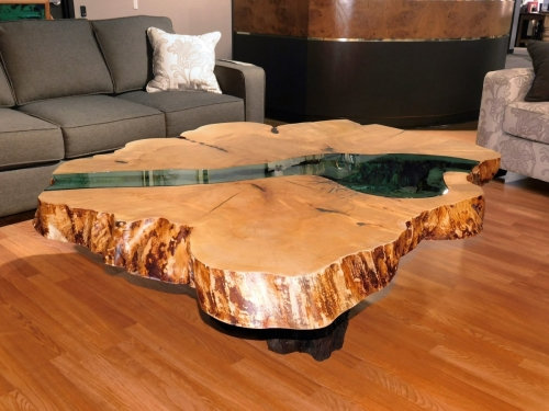 Over-Sized Round River Coffee Table