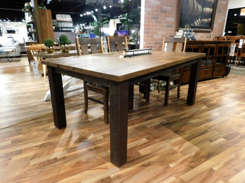 Silverton Solid Top Leg Table in Reclaimed Barnwood