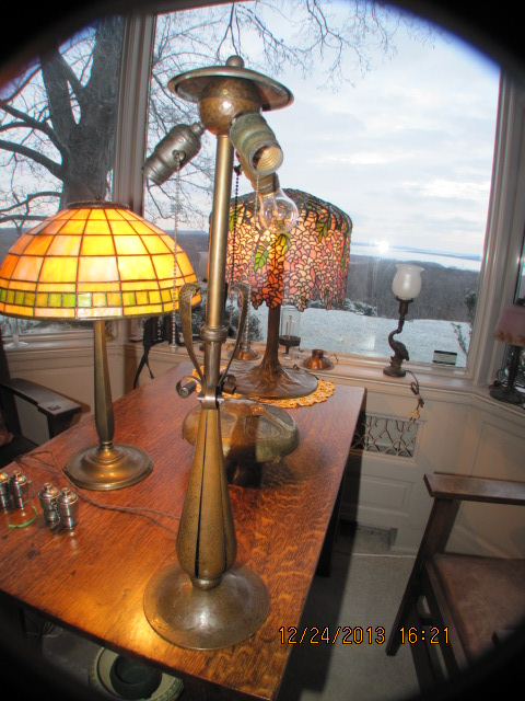 Dons Lamps  Antiques Gustav Stickley Lamp 262