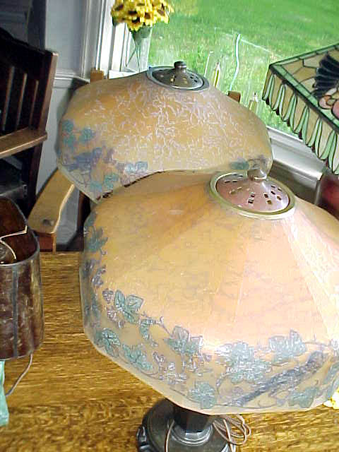 Dons Lamps  Antiques Handel Shade Support Arts and Crafts