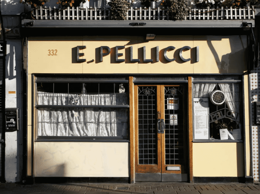 E Pellicci Italian café - once the hangout of the infamous Kray twins
