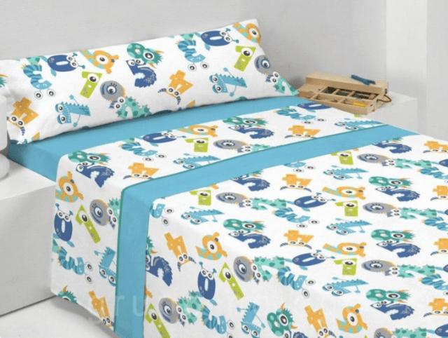 sábanas coralinas infantiles pierre cardin