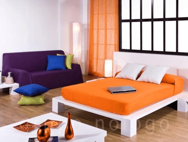 plaid de sofá en verano