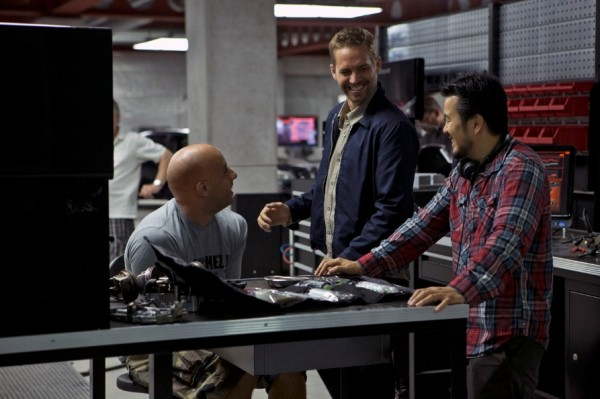 Fast 6 stars production and we have a picture of Director Justin Lin and stars Paul Walker and Vin Diesel