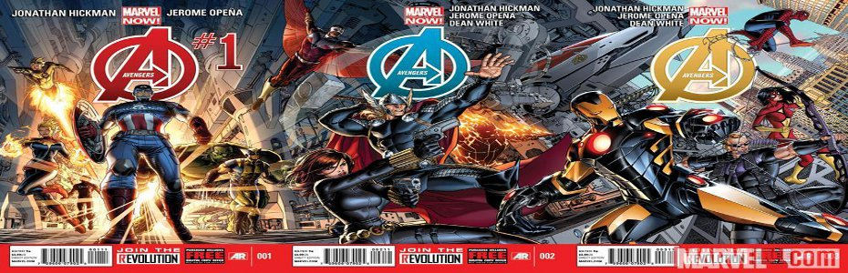 "New 'Interlocking' Variant Covers for Jonathan Hickman's upcoming Avengers ""reboot"" show off the 'NEW' team"