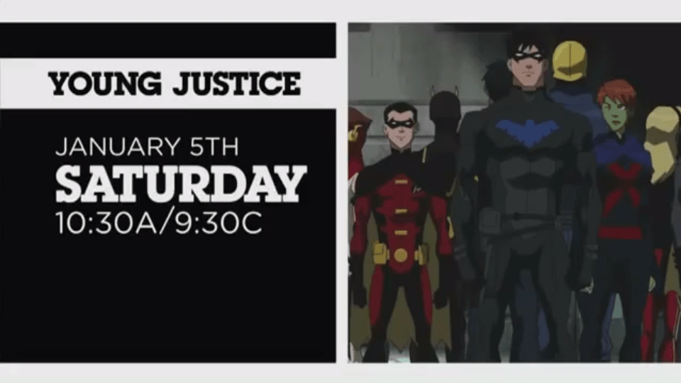 Young Justice returns January 5th on Cartoon Network! Here's the latest promo!