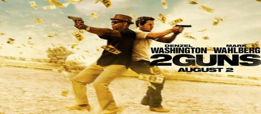 2 GUNS shows off first images, poster, and trailer from the film!