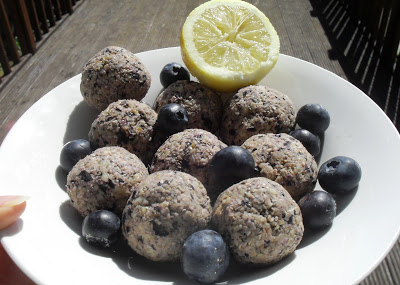 Blueberry lemon shortcake bites energy balls Lunch snack Uncategorized vegan
