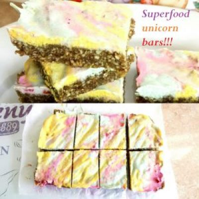 Super food unicorn bars! 2 ways Desserts Grainfree Lunch Popular snack vegan