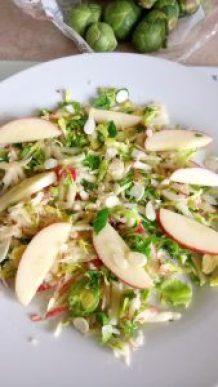 Simple sweet brussel sprout & apple salad Dinner Lunch snack vegan