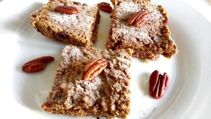Gingerbread flapjacks Breakfast snack vegan