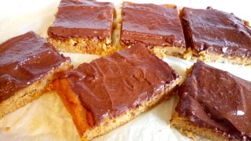 Beauty food pumpkin bars and healthy chocolate ganache Breakfast Desserts Lunch snack